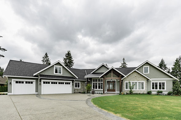 Exterior shot of the fresh traditional langley new home.