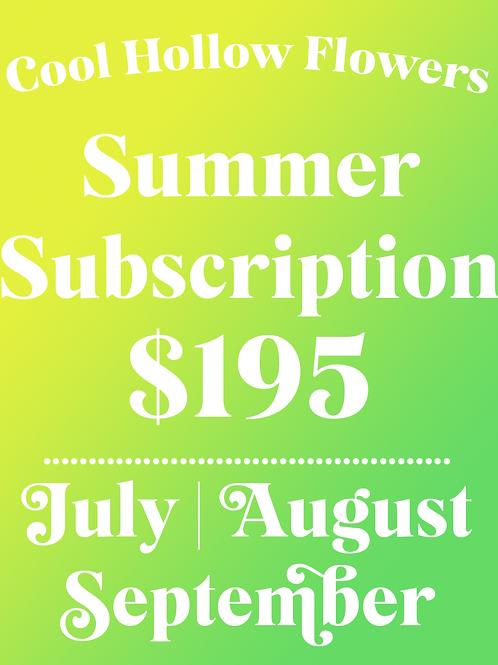 Summer Subscription -- July, August, September