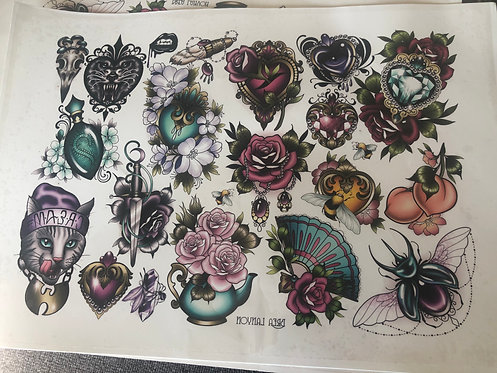 Temporary Tattoo Sheet 1