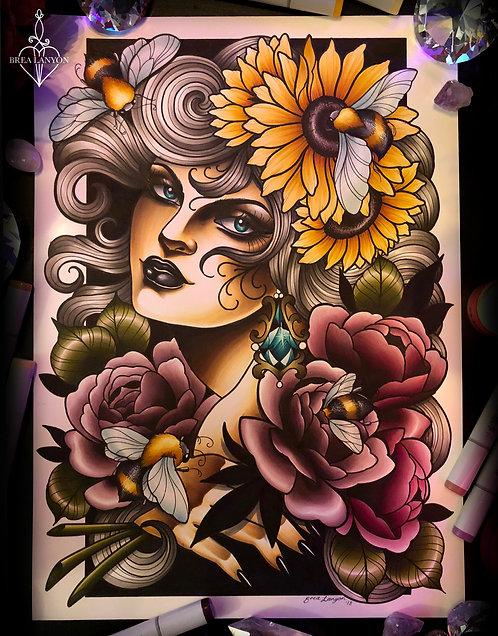 Bee Babe A3 Print