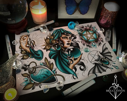 blue witch flash