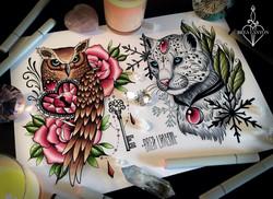 owl leopard flash