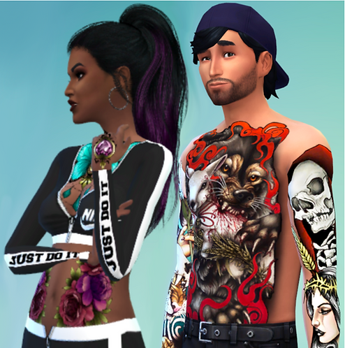 Sims 4 Tattoo Set
