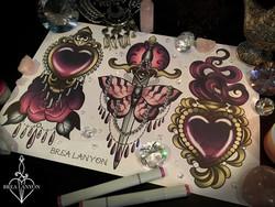pink hearts dagger photo 2