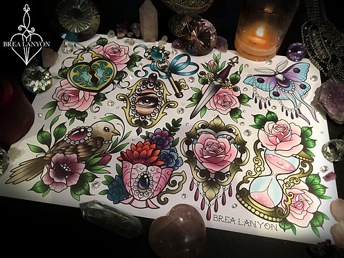 Pretty Things 3 Flash Sheet A3