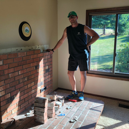 Wood Stove Brick Pedestal Removal