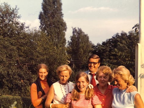 CFK and family attending Bente's confirmation in Oslo in 1972