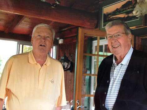 CFK with brother Jorgen at Jorgen's cabin in Rena, Norway in 2009