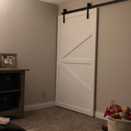 DIY Barn Door for the Basement