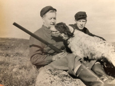 CFK bird hunting in Norway with his brother-in-law Dick Grimnes