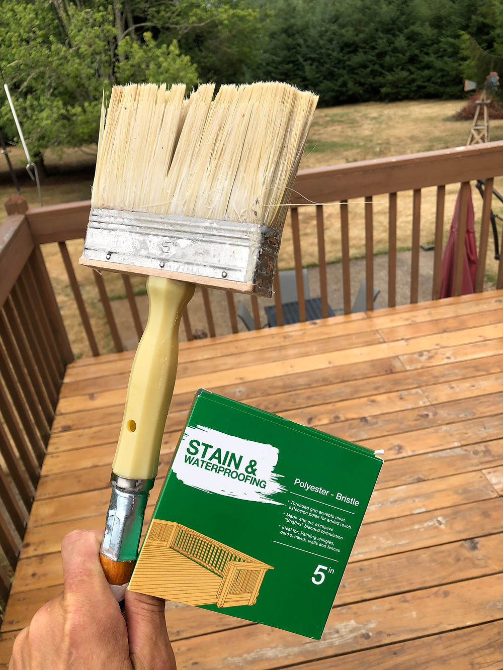 Deck staining tools of the trade