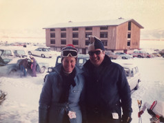 CFK and Aase skiing in Jackson Hole, WY in 1975