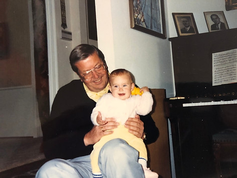 Christian and grandaughter Janet Pasko in 1990