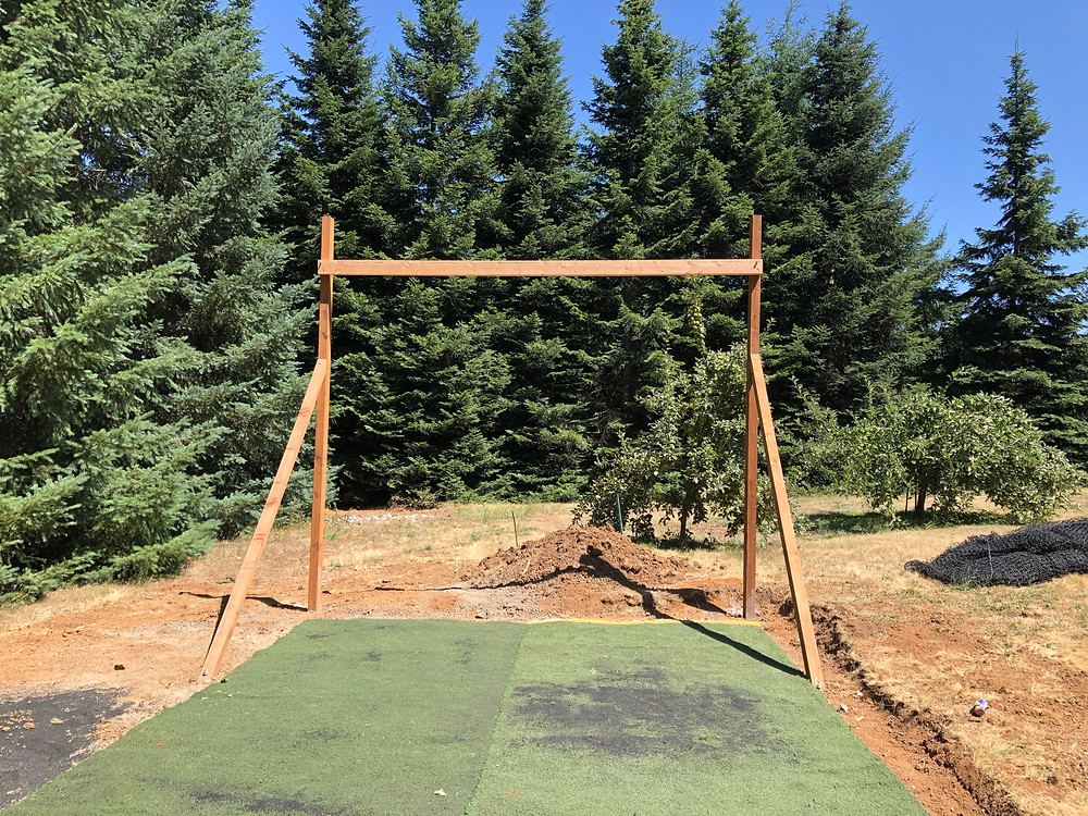 DIY batting cage structure