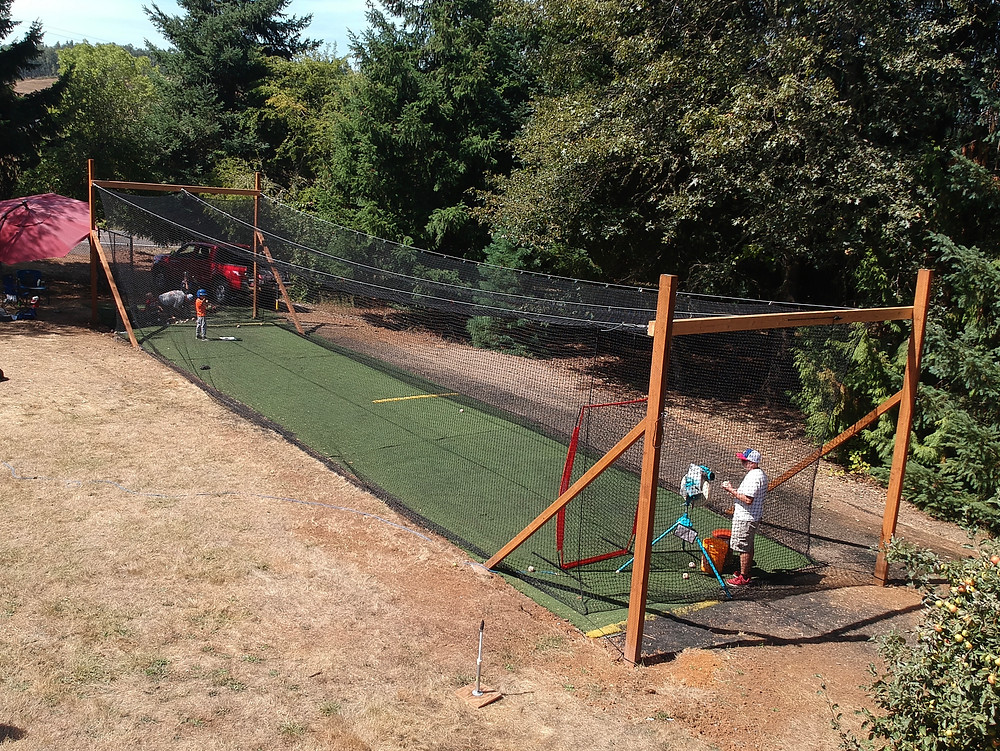 DIY batting cage finished product