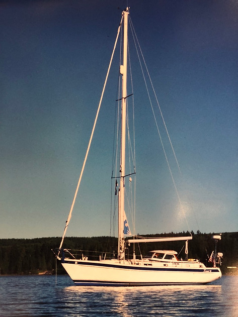 CFK's Hallberg-Rassy 42 in the Puget Sound, WA year 2000