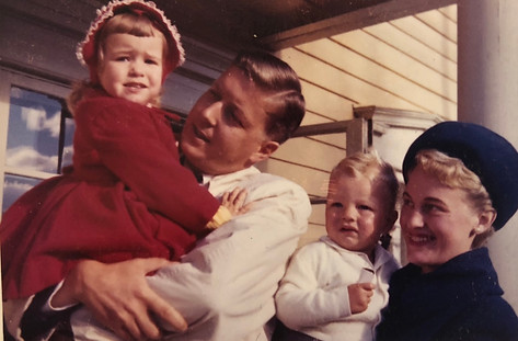 Bente, CFK, Christian Petter and Aase on vacation in Norway ca. 1961