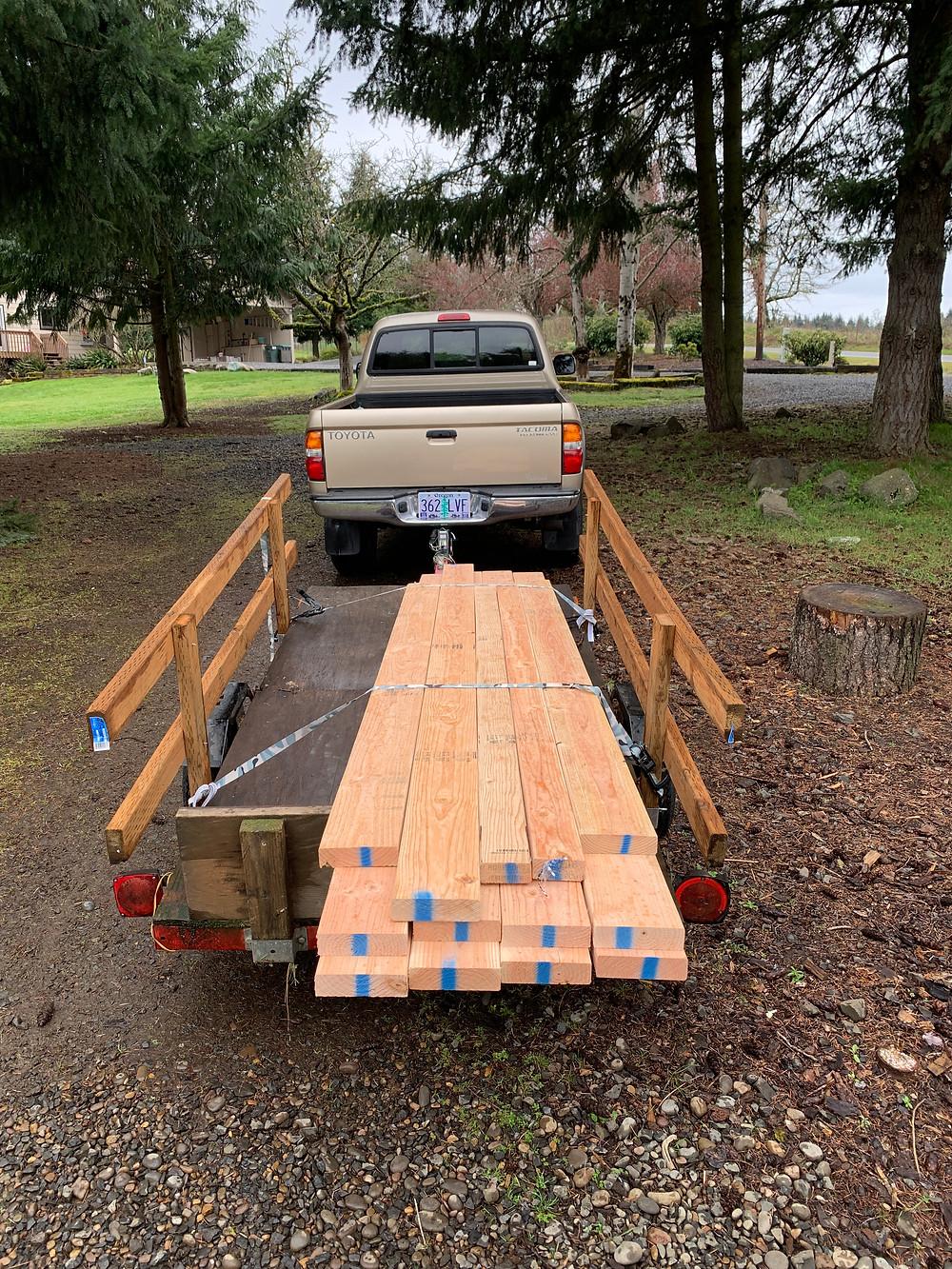 Raw materials for DIY Squat Rack