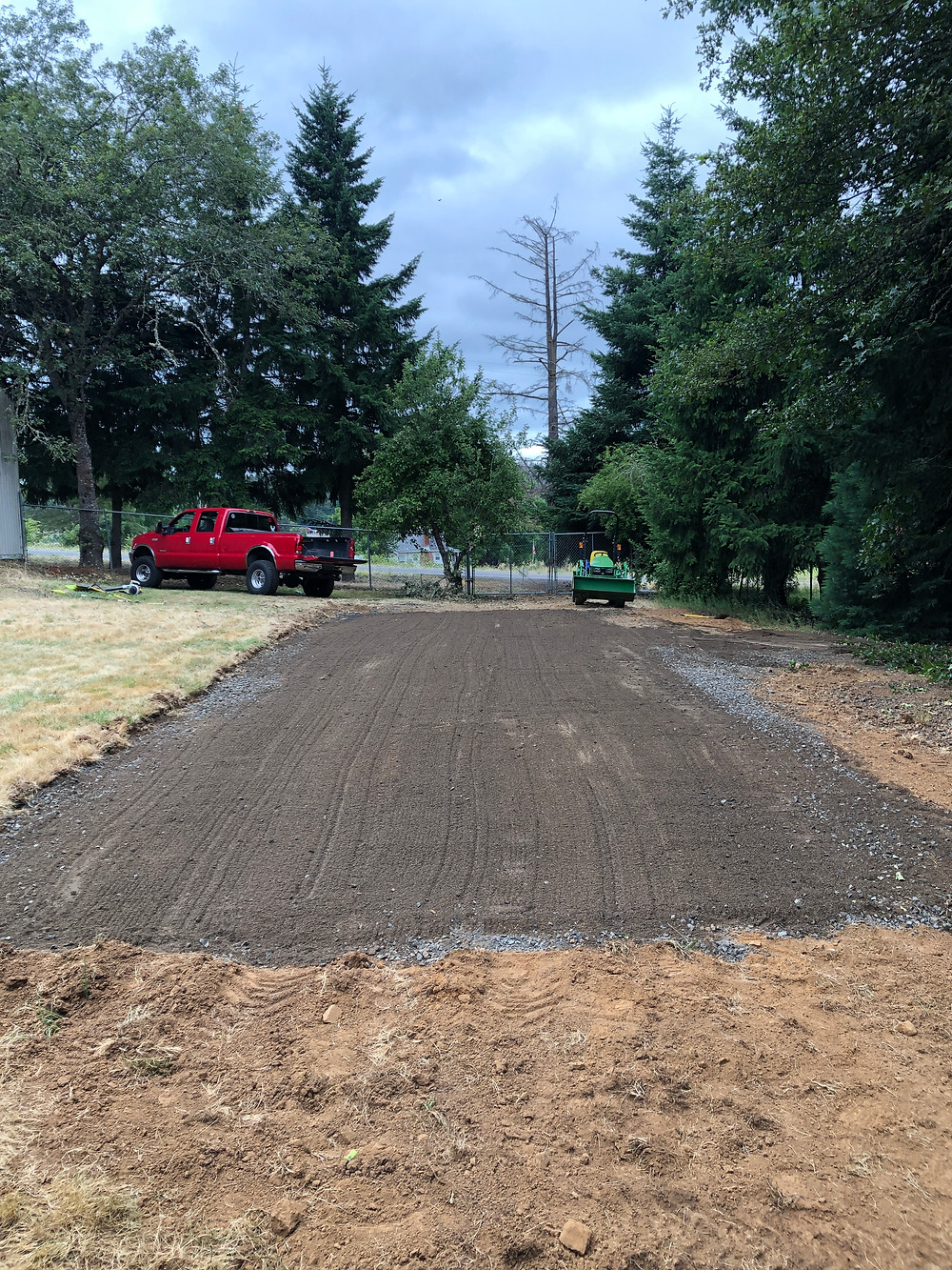 Ground prep for DIY batting cage