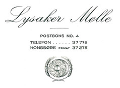 Christian Frederik's business card ca. 1952