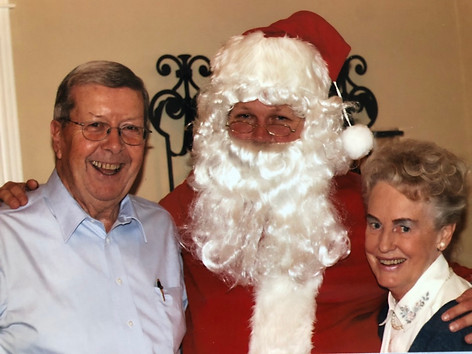 CFK, Chris Petter (as Santa) and Aase celebrating Christmas in 2005