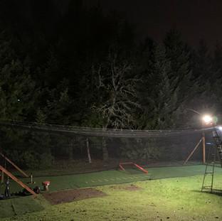 Under the lights!