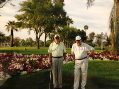 CFK and Finn Wollebek golfing at Santa Rosa in Palm Desert, CA in 2008