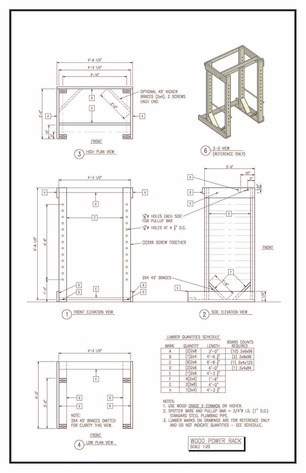 DIY Squat Rack Plans