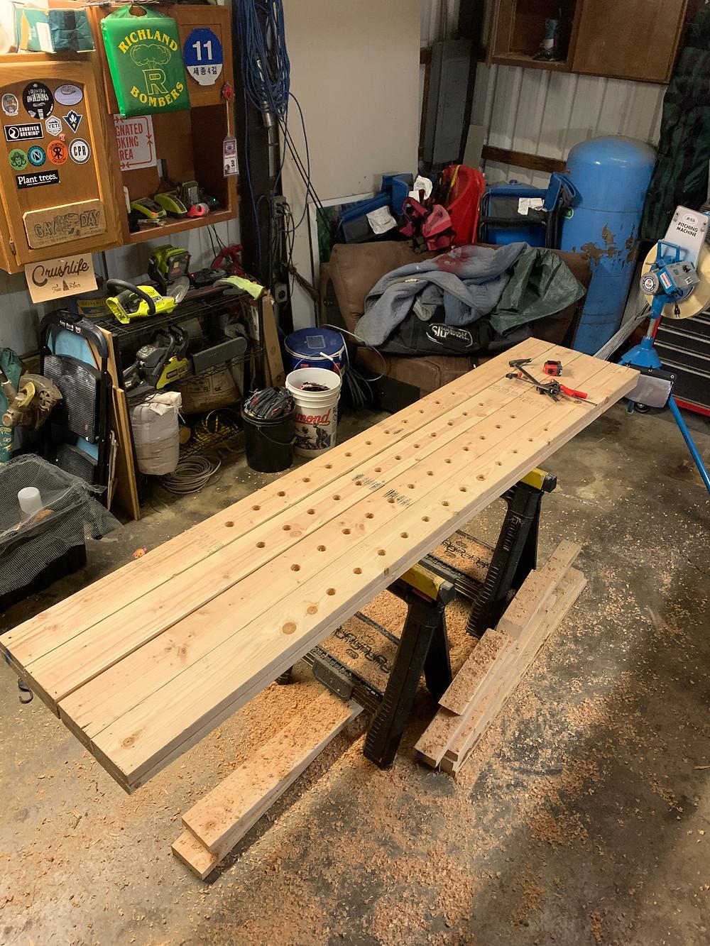 DIY squat rack posts