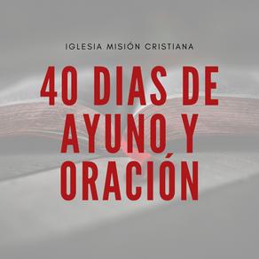 40 Dias de Ayuno y Oración 2020