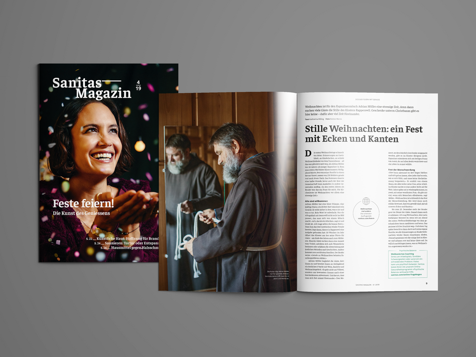 SANITAS MAGAZIN – Kundenmagazin 1/20 und 4/19