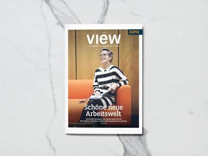 VIEW – Alpiq Mitarbeitermagazin, bei Infel AG entstanden