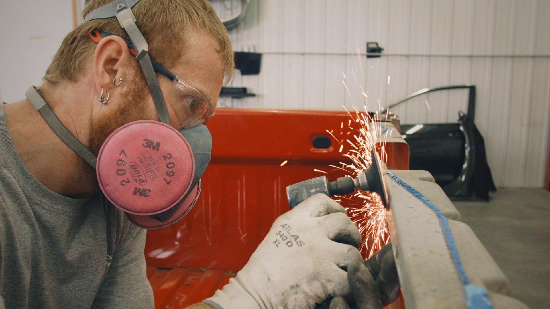 Golden Hammer Collision shop body tech working