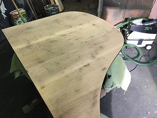 Flügeldeckel nach dem schleifen und fertig vorbereitet für die Grundierung