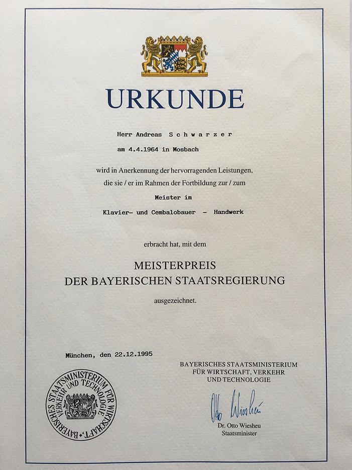 Meisterpreis Andreas Schwarzer