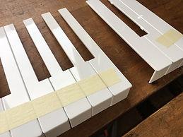 Klaviaturbelag Kunststoff