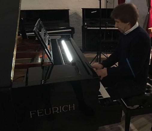 blendfreie LED Notenpult Beleuchtung Feurich 218 Concert