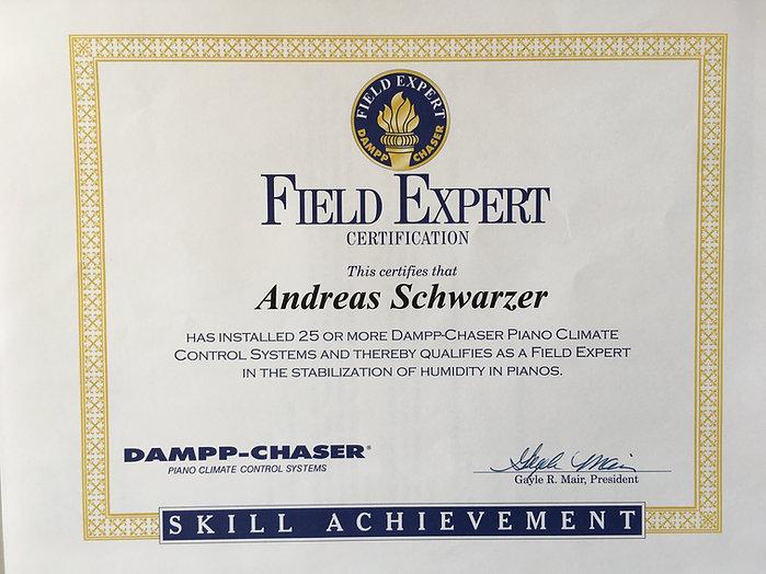 Field Expert Ceritification für Andreas Schwarzer