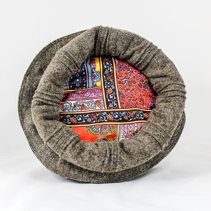 print: koyla [charcoal] :basic wool