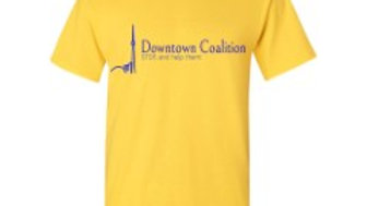 "Downtown Coalition T's ""YELLOW"""