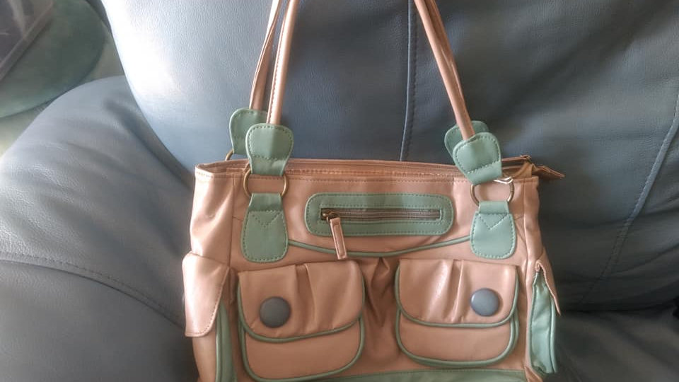Green and Pink Leather
