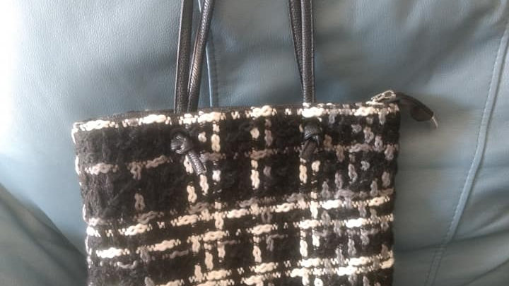 Black and White Wool Bag