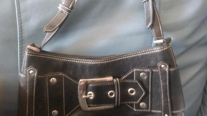 Black Front Belt Bag