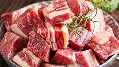 Beef  3lb of Cow Flank Cube Cut for only 26.99
