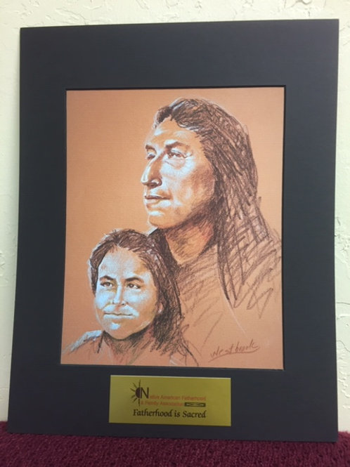Native American Father and Son