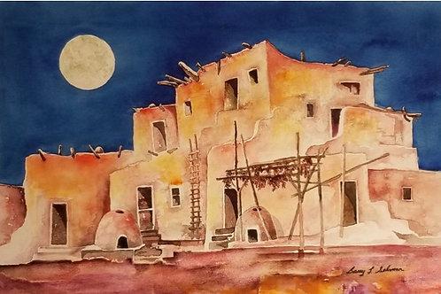 Moon Over Red Pueblo