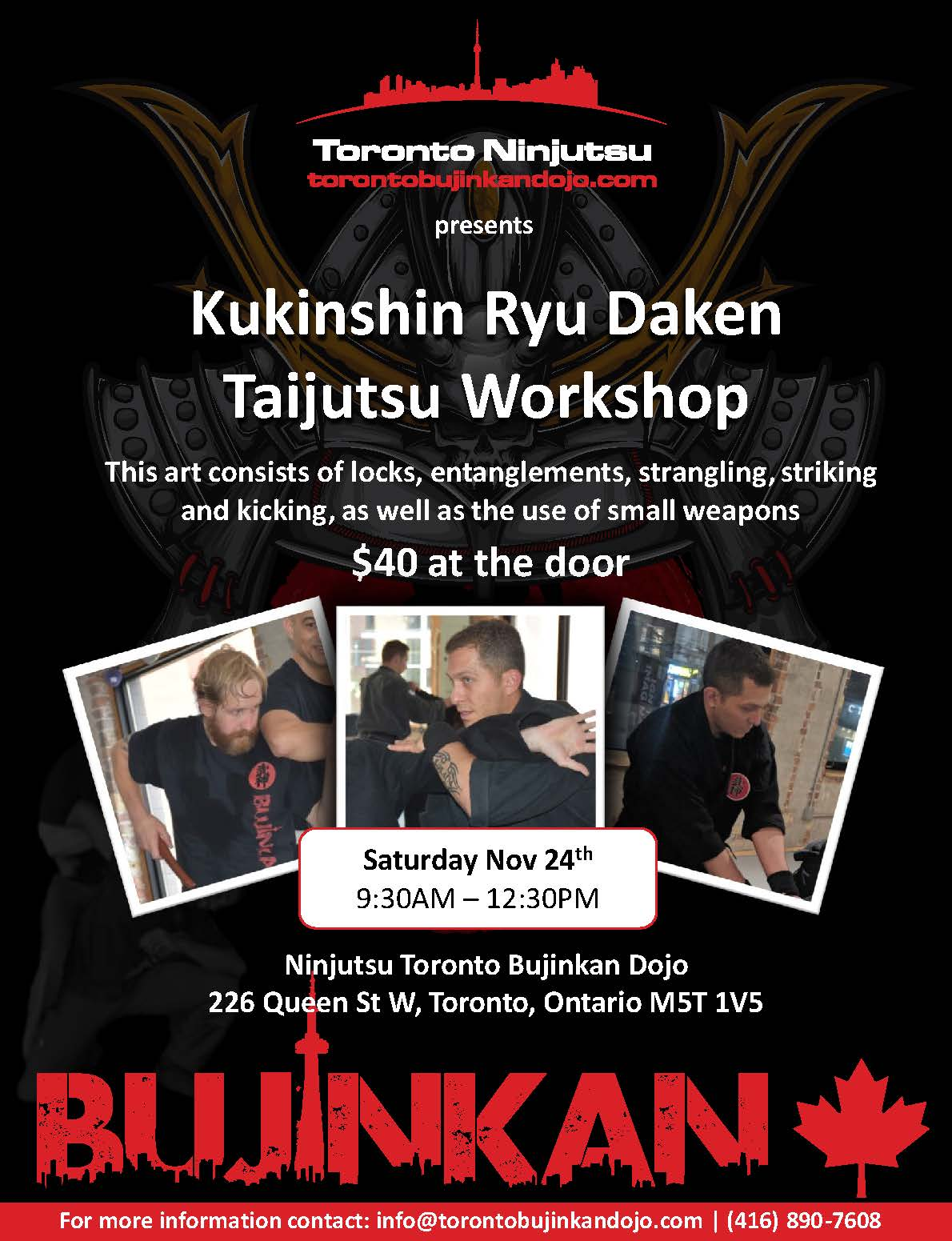 2018 11 Kukishinden Ryu Workshop