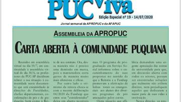 PUC VIVA 19 - Carta aberta à comunidade puquiana