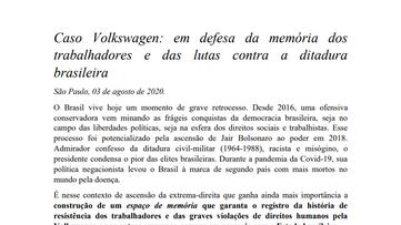 Caso Volkswagen: Por um lugar de memória dos trabalhadores
