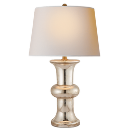 Bull Nose Cylinder Table Lamp in Mercury